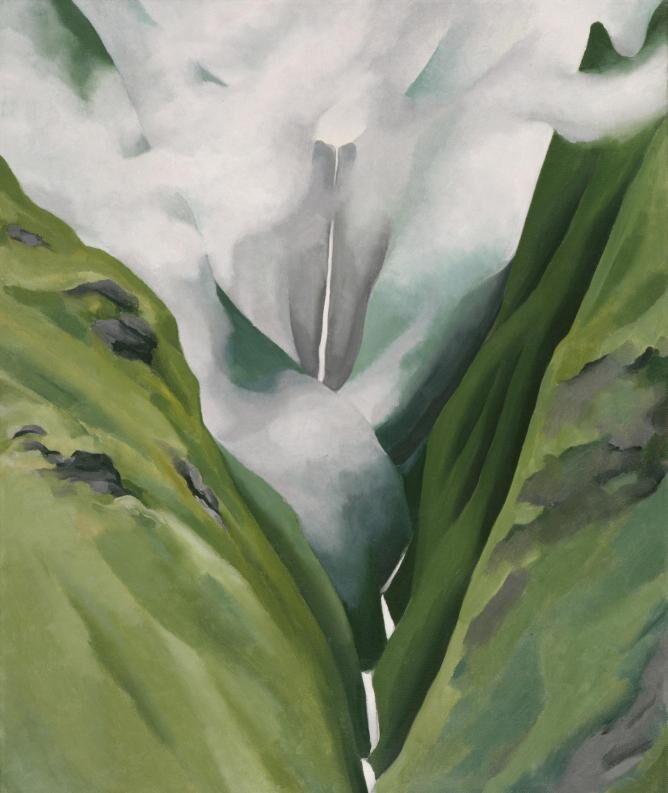 Georgia O'Keeffe, Waterfall—No. III— 'Iao Valley, 1939. Honolulu Museum of Art.