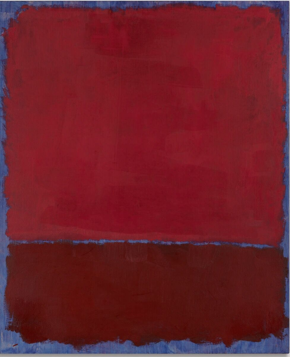 Mark Rothko, Untitled (Red and Burgundy Over Blue), 1969. Courtesy of Sotheby's.