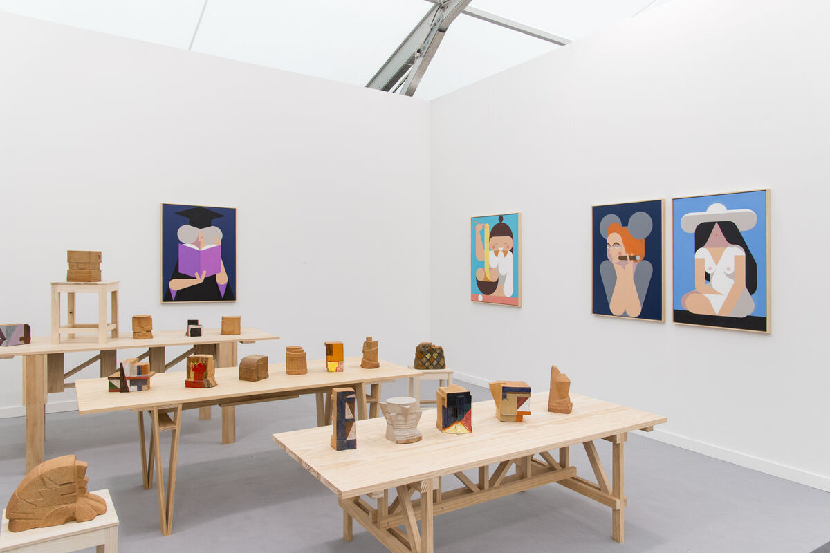 Installation view of Rachel Uffner's booth at Frieze New York, 2016. Photo by Adam Reich for Artsy.