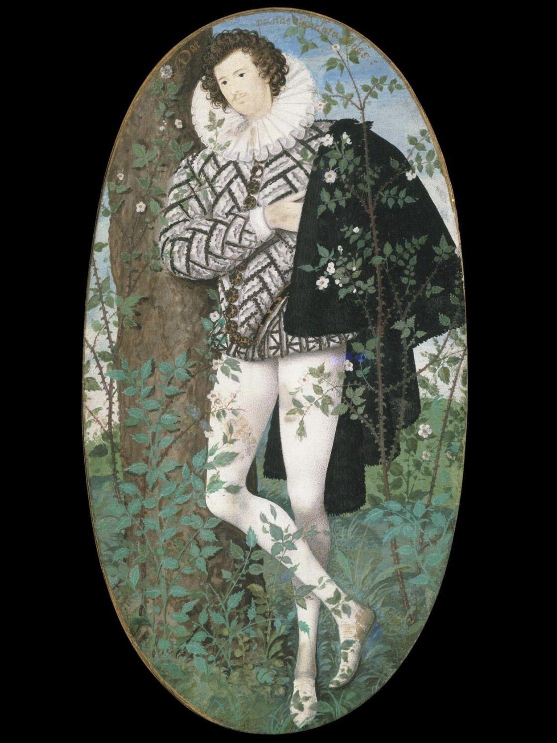 Nicholas Hillard, Young Man among Roses, ca. 1587. © The Victoria and Albert Museum