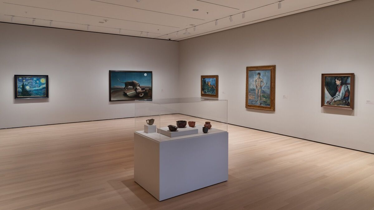 "Installation view of ""19th Century Innovators ,"" in Gallery 501, at The Museum of Modern Art, New York. Photo by Jonathan Muzikar. © 2019 The Museum of Modern Art."