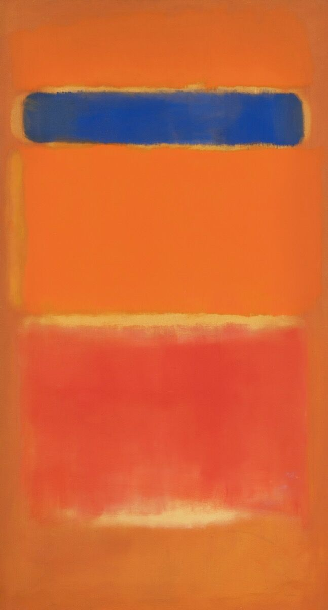 Mark Rothko, Blue Over Red, 1953. Courtesy of Sotheby's.