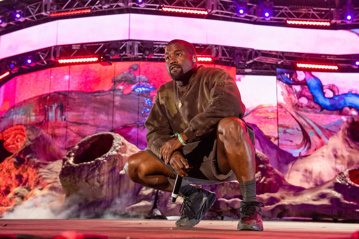 Kanye West performing at Coachella earlier this year. Photo by Timothy Norris/Getty Images for Coachella.