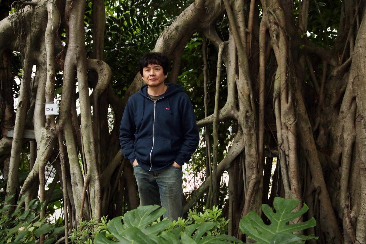 Portrait of Yoshitomo Nara. Photo by Franke Tsang / South China Morning Post via Getty Images.