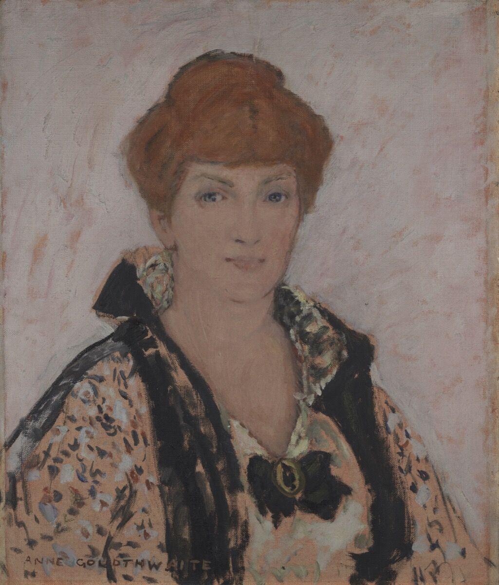Anne Goldthwaite, Retrato de Katherine Sophie Dreier, 1915-1916.  Cortesía de la Galería de Arte de la Universidad de Yale.