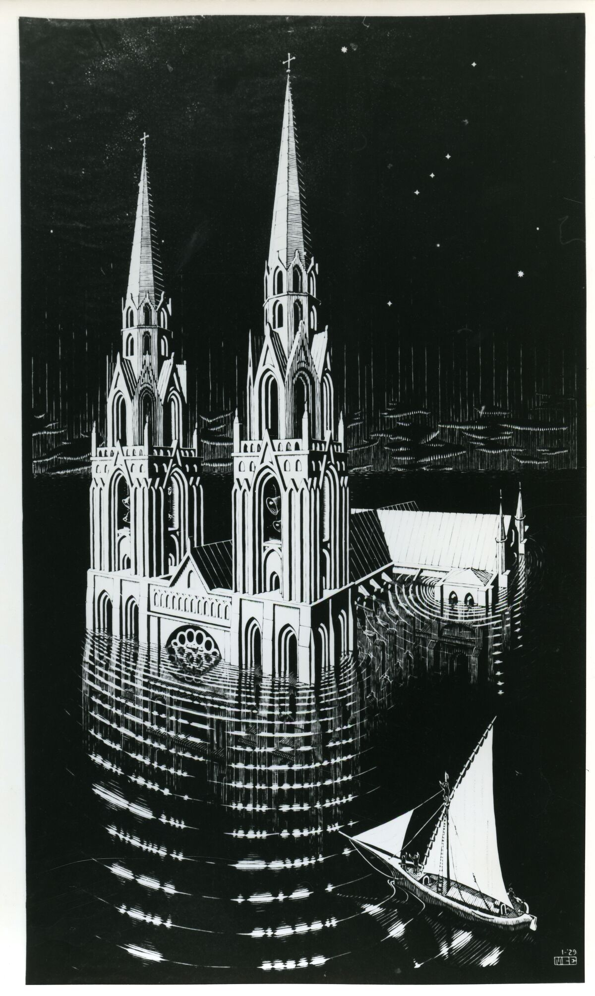 M.C. Escher, La Cathedrale Engloutie. ©2017 The M.C. Escher Company, The Netherlands. All rights reserved.