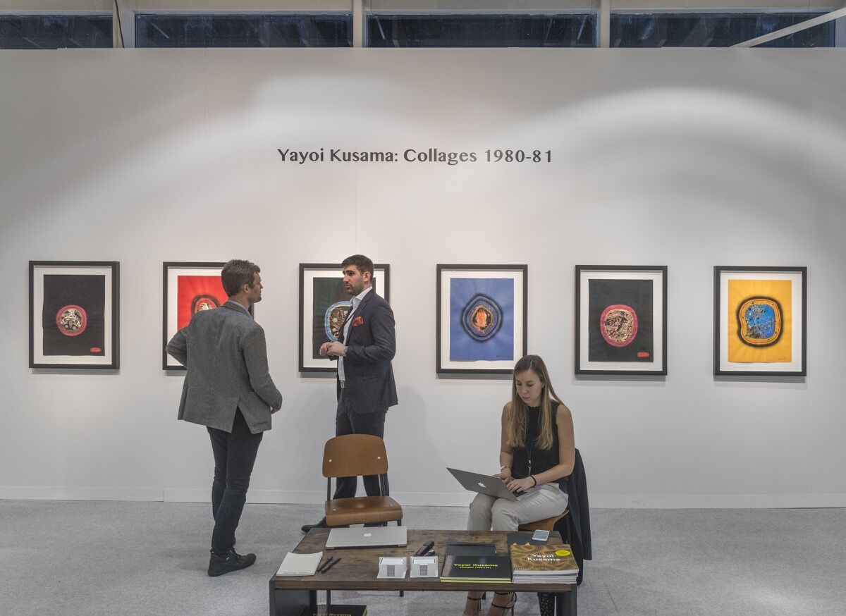 Installation view of Omer Tiroche Gallery's booth at The Armory Show, 2018. Photo by Adam Reich for Artsy.