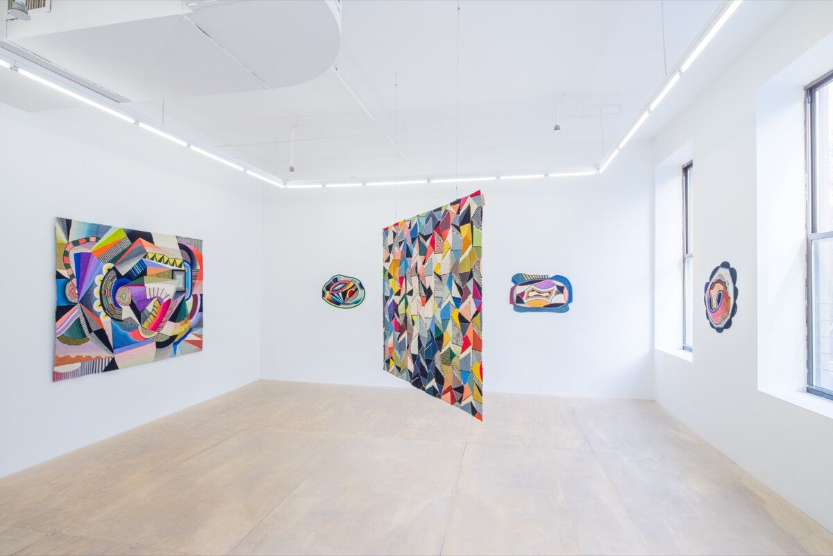 """Installation view of """"Sissel Blystad: Glenne"""" at Hester, 2016. Courtesy of Downs & Ross."""
