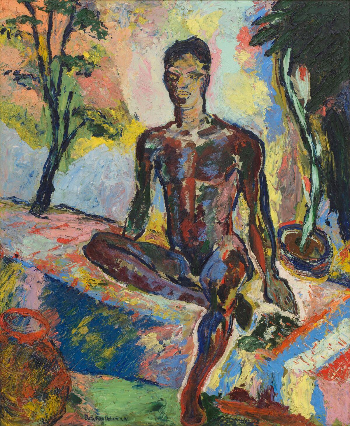 Beauford Delaney,  Dark Rapture (James Baldwin),  1941. Courtesy of Michael Rosenfeld Gallery LLC, New York, NY and David Zwirner.