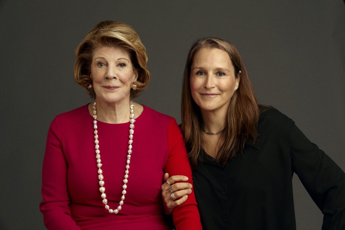 Portrait of Agnes Gund and Aggie director Catherine Gund. Photo by Timothy Greenfield-Sanders. Courtesy of Agnes and Catherine .