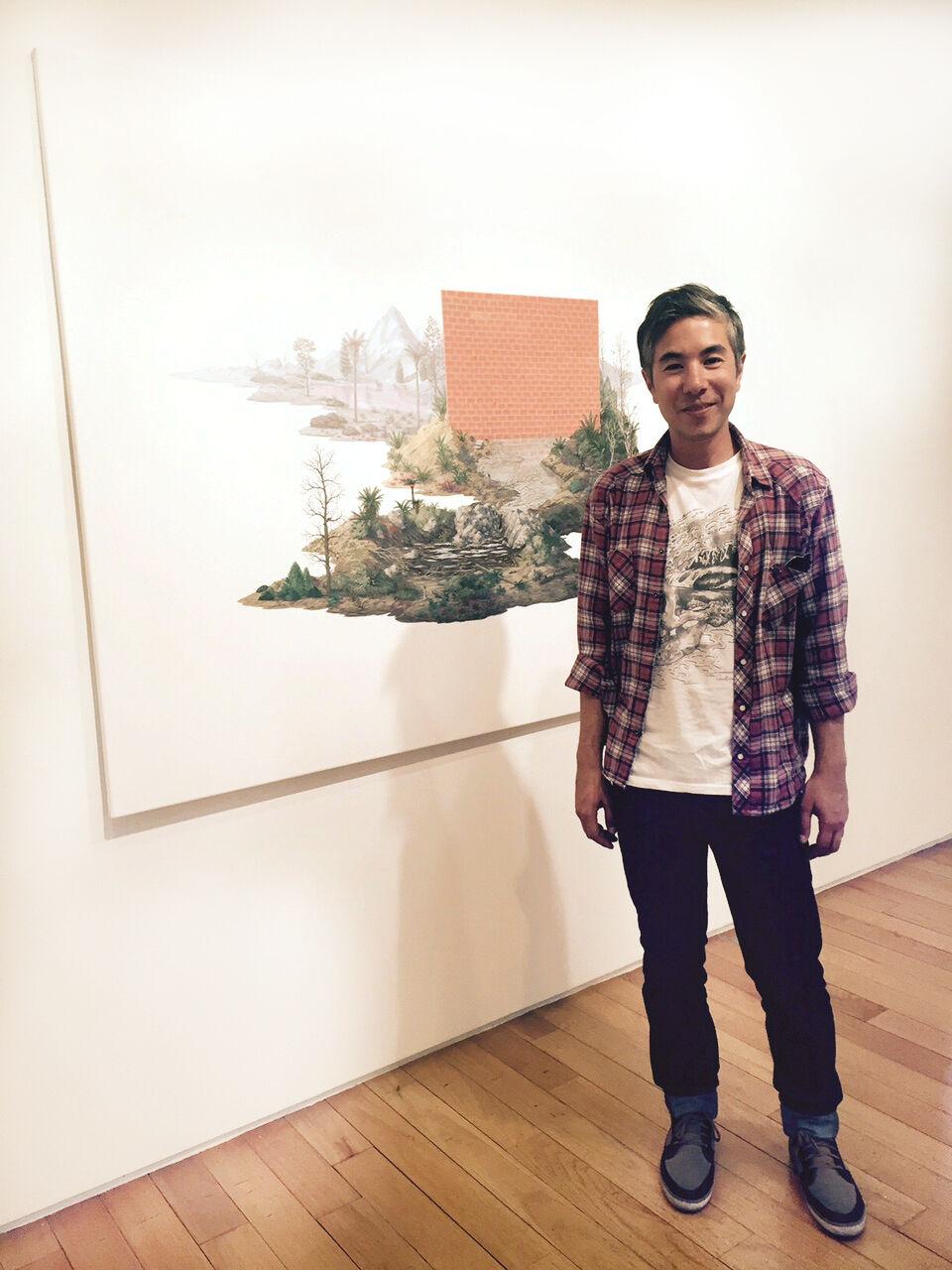 "Agustin Sirai with Isla (2014) at ""Limit,"" courtesy of Praxis"