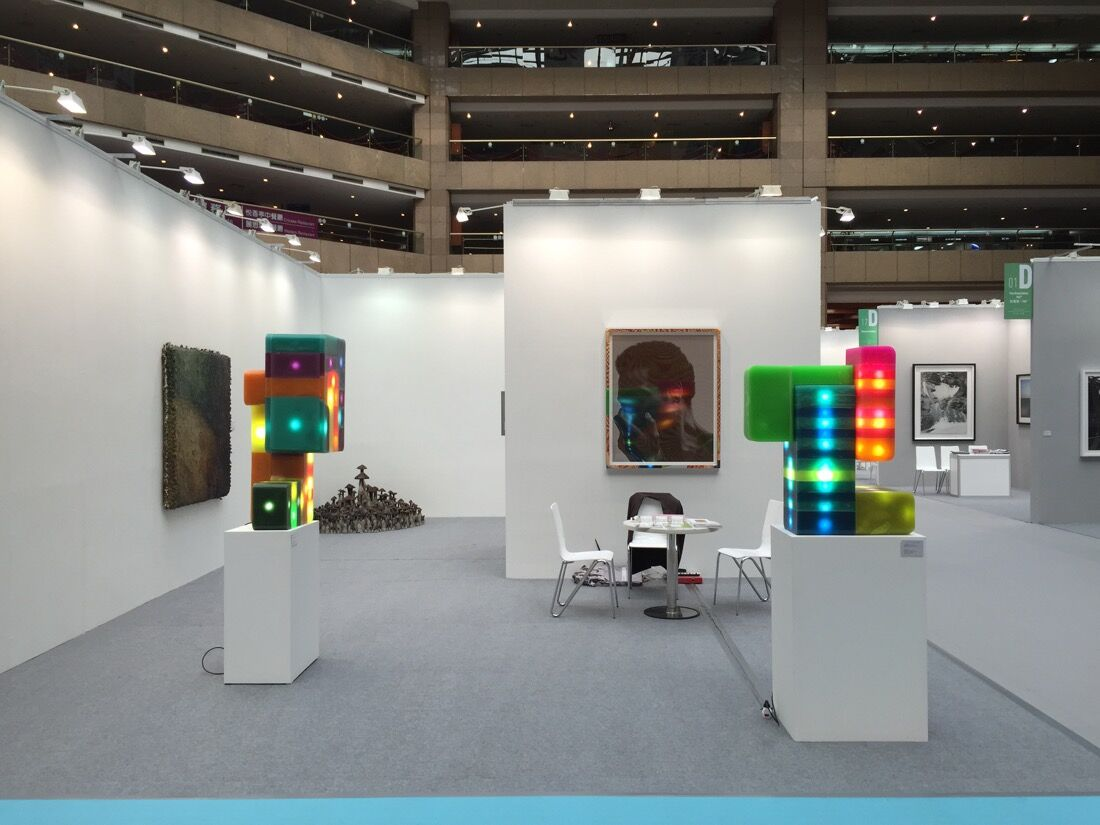 Installation view of Galerie Urs Meile's booth at Art Taipei 2015. Photo courtesy of the gallery.