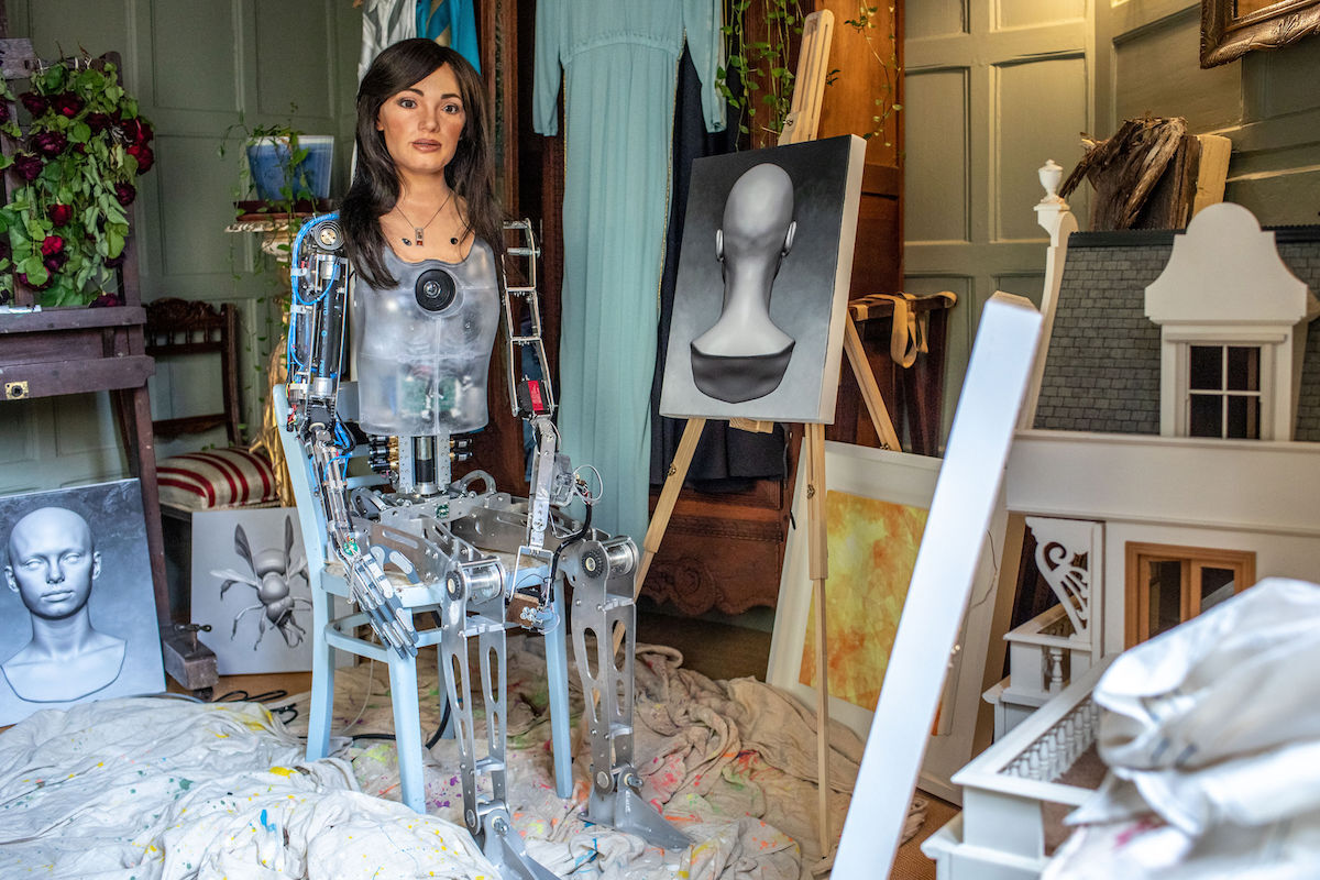 Ai-Da the robot artist. Photo by Victor Frankowski.