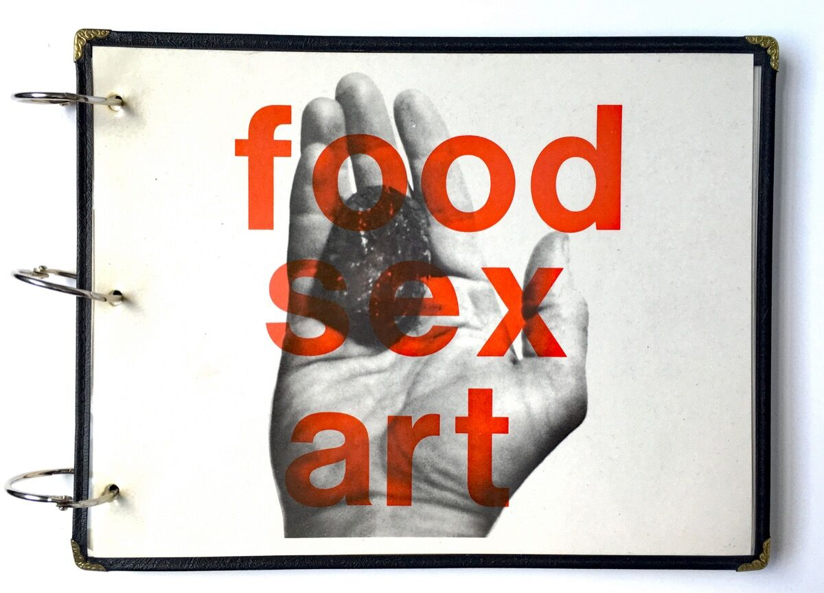 FOOD SEX ART | Starving Artists' Cookbook cover. Courtesy of Arthur Fournier.