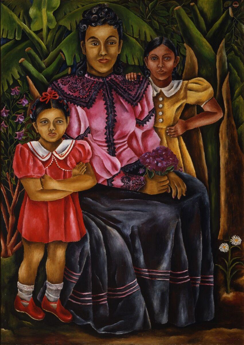 María Izquierdo, My Nieces, 1940. © 2019 Artists Rights Society (ARS), New York / SOMAAP, Mexico City. Reproduction authorized by El Instituto Nacional de Bellas Artes y Literatura, 2019. Courtesy of the Whitney Museum of American Art.