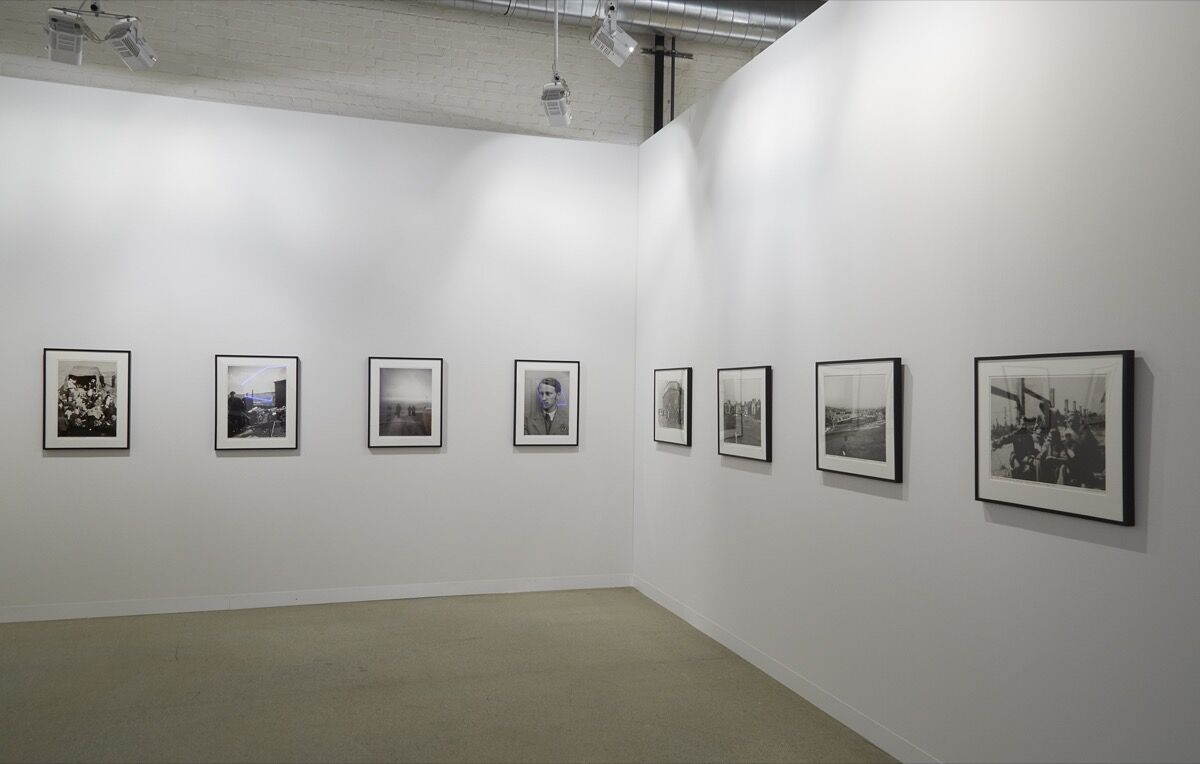 Installation view of works by Jonas Mekas at James Fuentes's booth at Art Basel, 2016. Photo by Benjamin Westoby for Artsy.