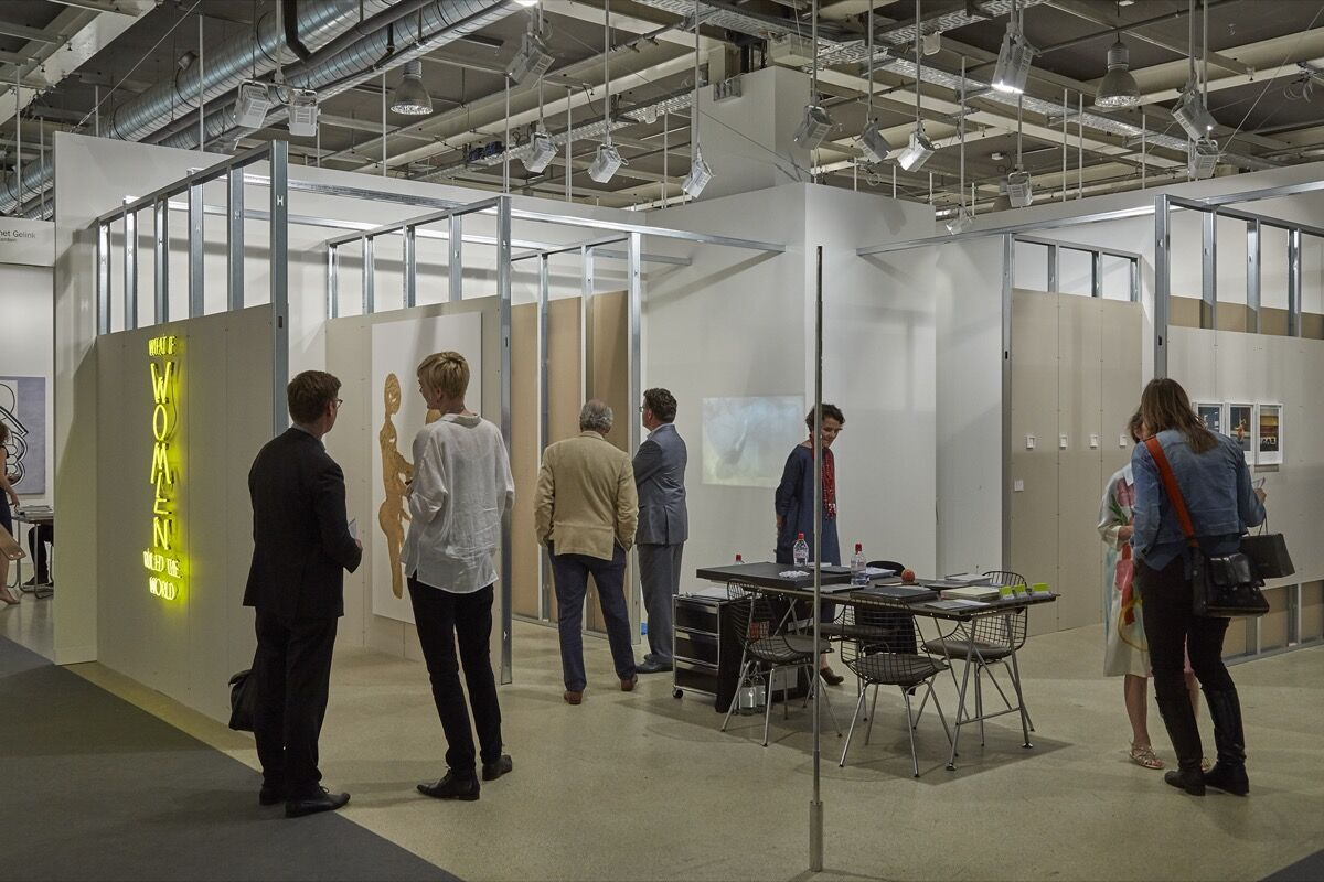 Installation view of Annet Gelink's booth at Art Basel, 2016. Photo by Benjamin Westoby for Artsy.