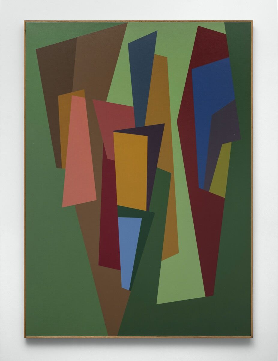 Karl Benjamin, #3, 1986. Courtesy of the artist and Louis Stern Fine Arts.