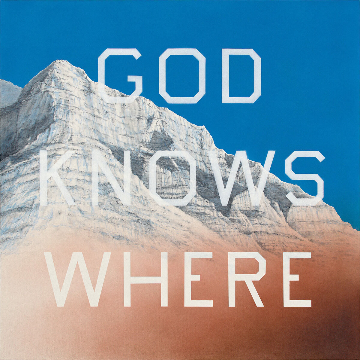 Ed Ruscha, God Knows Where, 2014. Sold for £3.3 million ($4.2 million). Courtesy Phillips.
