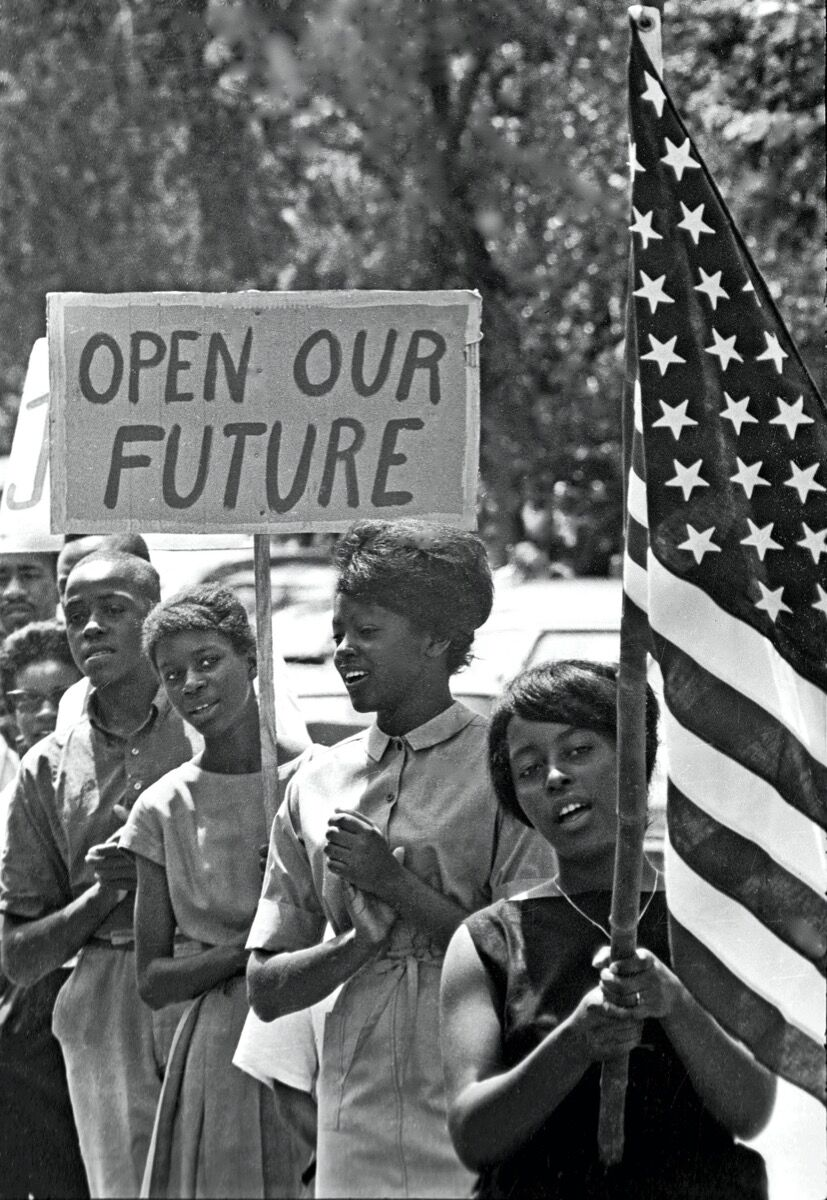 James H. Wallace, March through Chapel Hill, 1964. © Jim Wallace, Courtesy of the Smithsonian National Museum of African American History and Culture.
