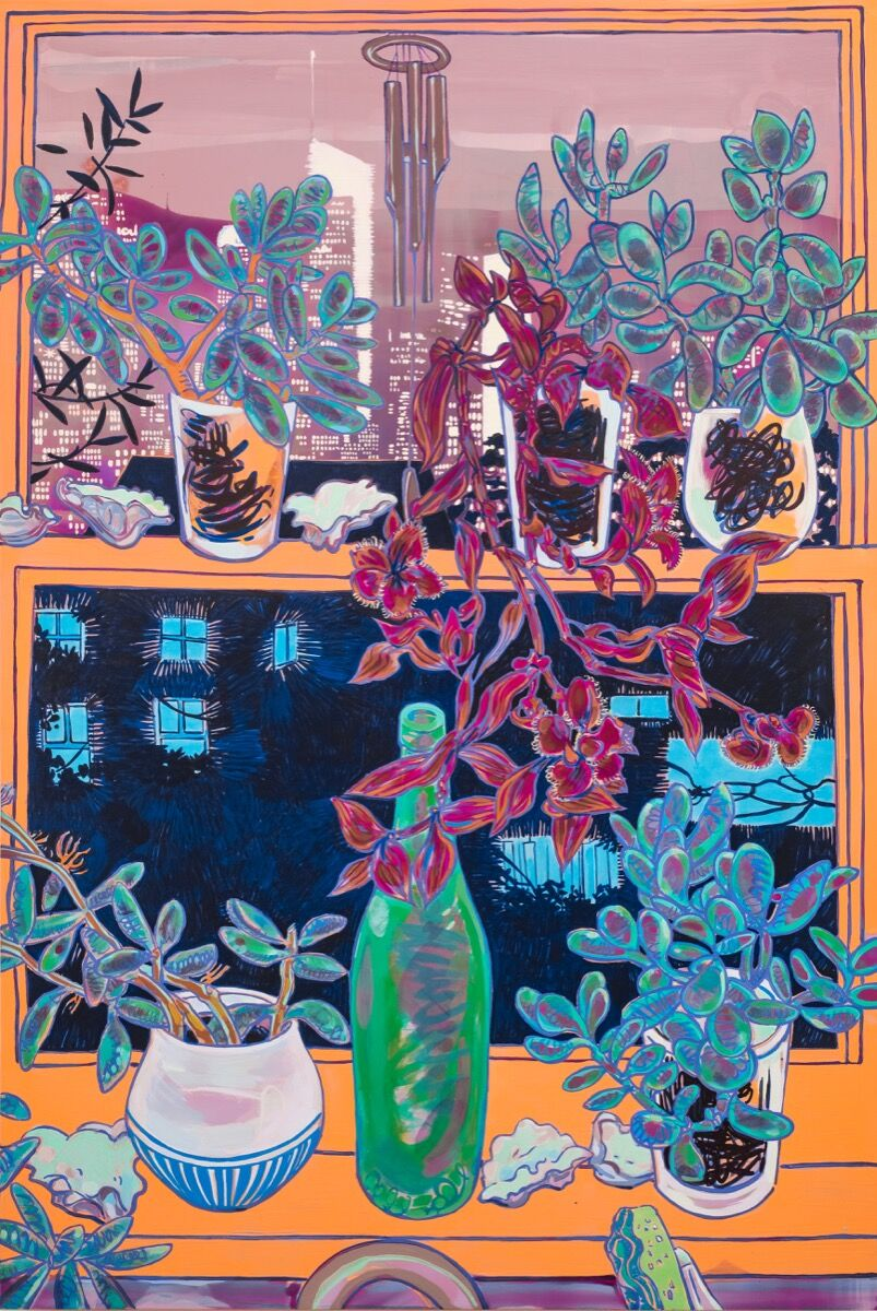 Hope Gangloff,  Downtown L.A. from Echo Lake, 2019. Photo by Donald Stahl, New York. Courtesy of the artist and Susan Inglett Gallery, New York.