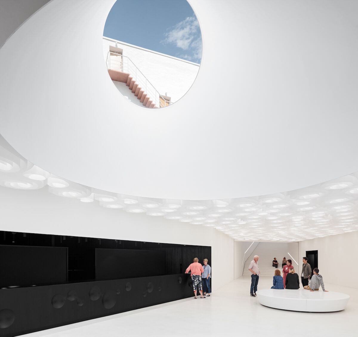 The interior of the new Amos Rex museum in Helsinki. Photo by Mika Huisman, courtesy Amos Rex.