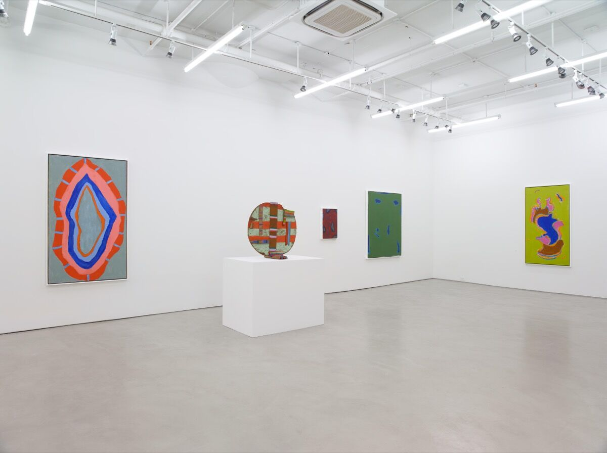 """Installation view of """"Betty Parsons: Invisible Presence."""" Courtesy of Alexander Gray Associates. © Betty Parsons Foundation."""