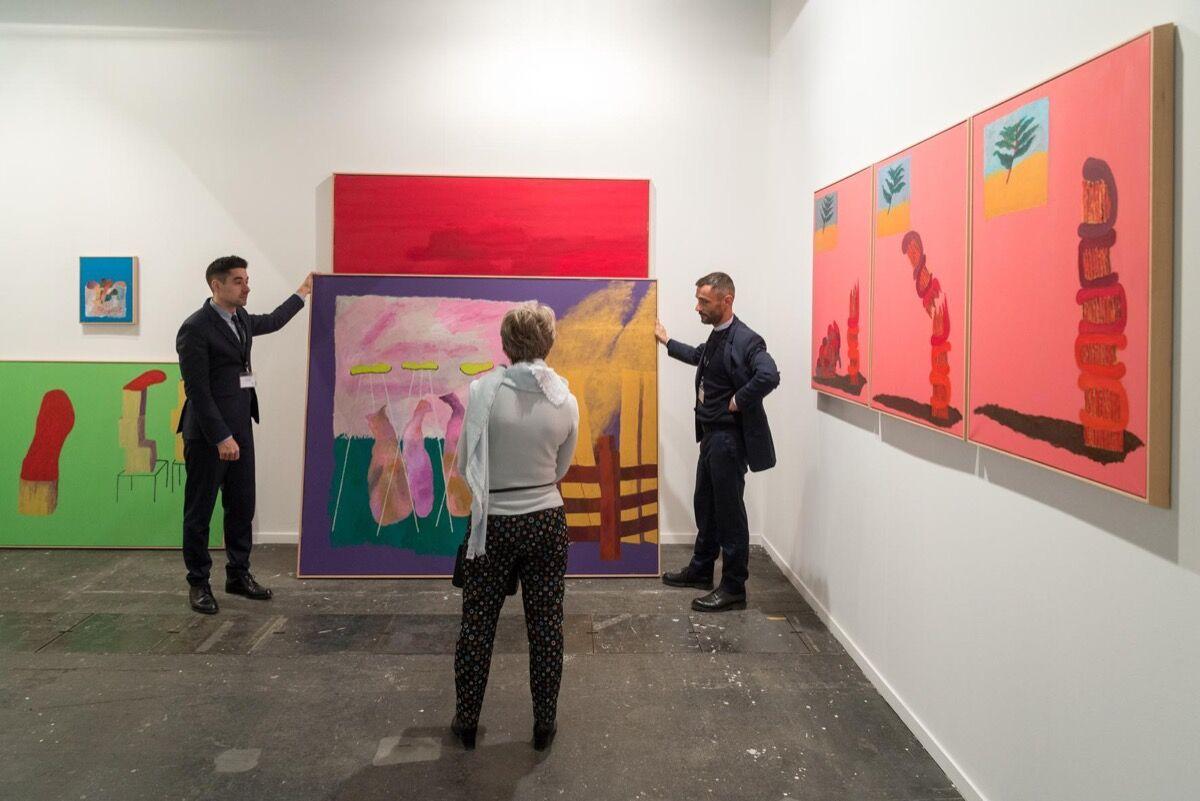 Galerie Jérôme Poggi's booth at ARCOmadrid, 2018. Courtesy of IFEMA-Feria de Madrid.
