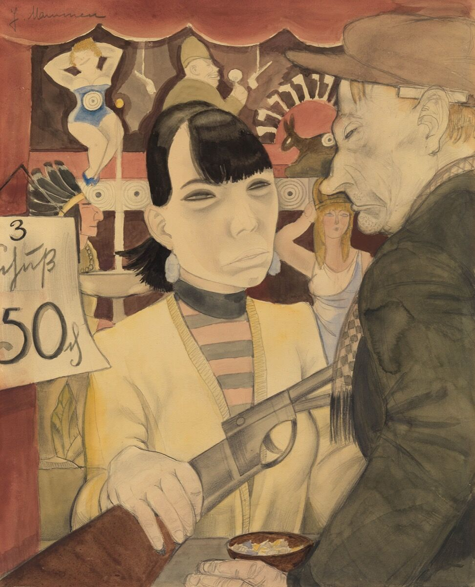 Jeanne Mammen, At the Shooting Gallery, 1929. © DACS, 2018. Courtesy of Tate.