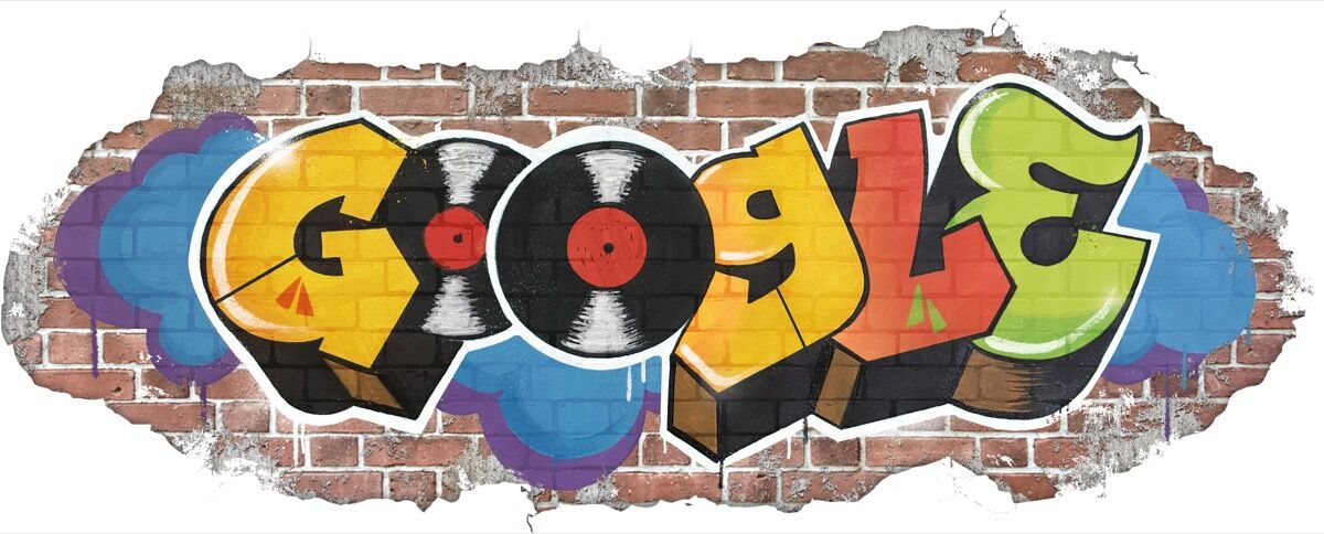 Google Doodle, 44th Anniversary of the Birth of Hip Hop, 2017. Courtesy of Google.