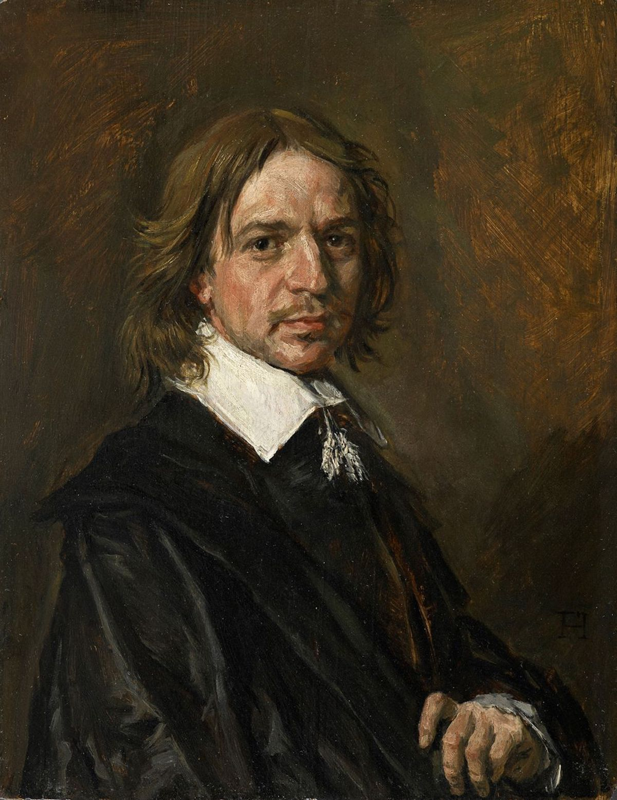 A painting formerly believed to be a portrait by Frans Hals, now believed to be a modern forgery. Image via Wikimedia Commons.