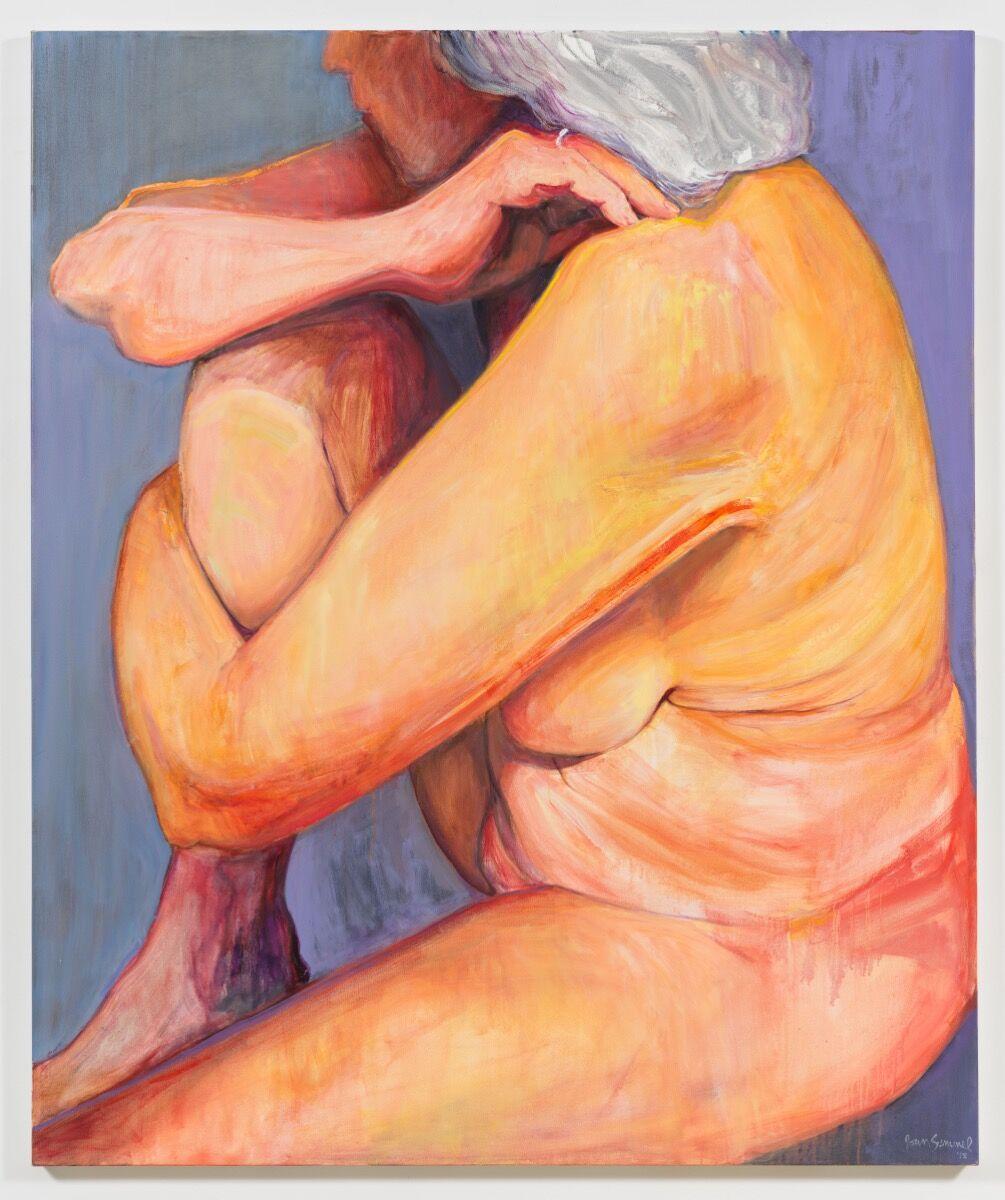 Joan Semmel, Knee Up, 2017. © Joan Semmel/Artists Rights Society (ARS), New York. Courtesy of Alexander Gray Associates, New York.