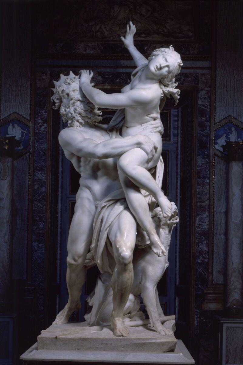 Gian Lorenzo Bernini, Pluto and Proserpina (The Rape of Proserpina), 1621-22. Courtesy of Galleria Borghese.