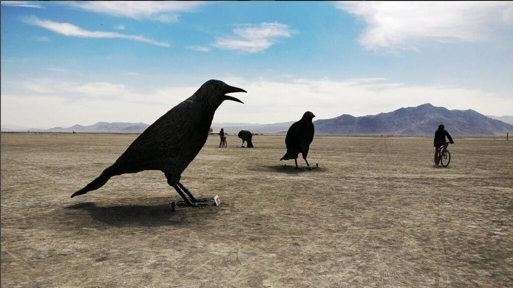 Crows Picking Over Prairie Burn On >> 16 Of Burning Man S Biggest Artists On Showing Their Work At The