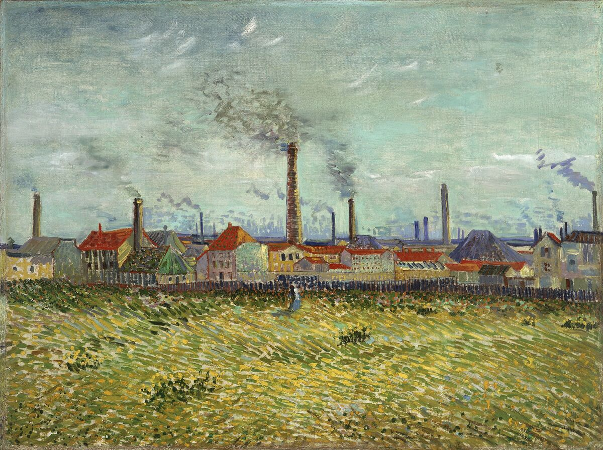 Vincent van Gogh, Factories at Clichy, 1887. Courtesy of the Saint Louis Art Museum and the Art Gallery of Ontario.