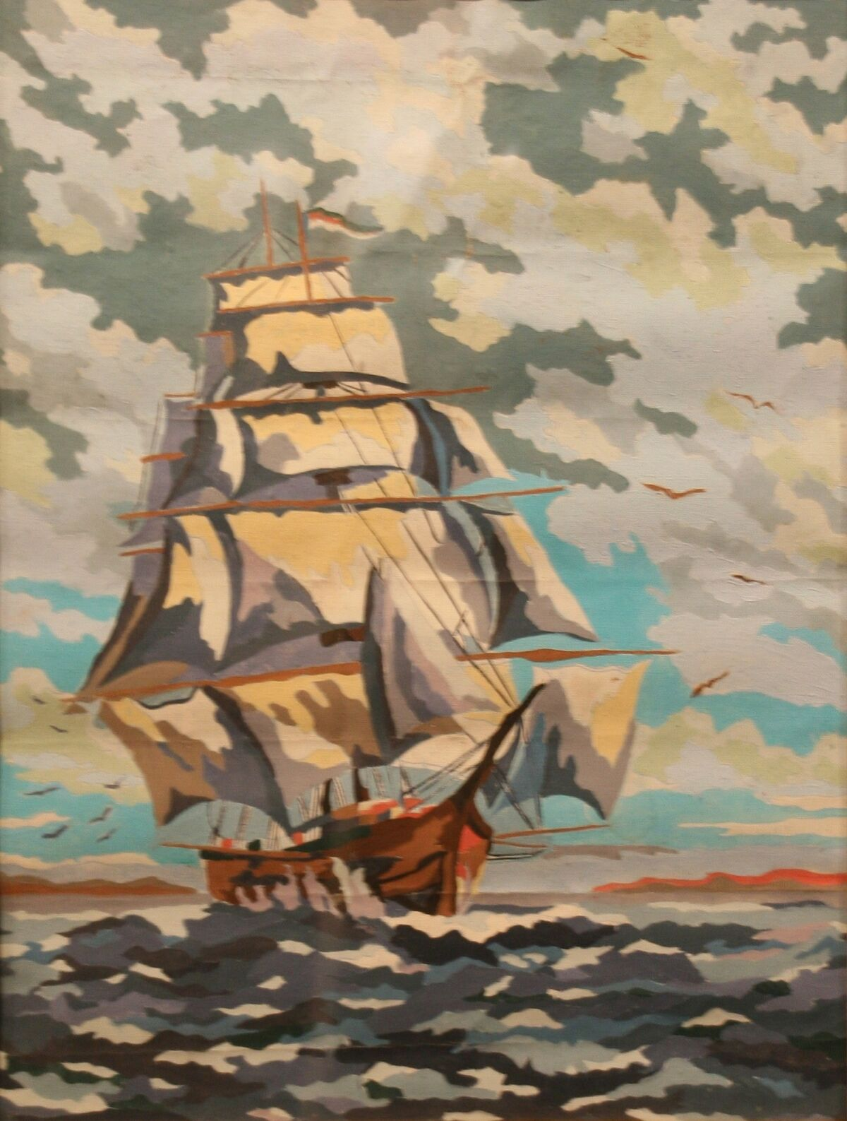 Dan Robbins' Clipper Ship executed by an unknown painter, 1952. Courtesy of 20 North Gallery.