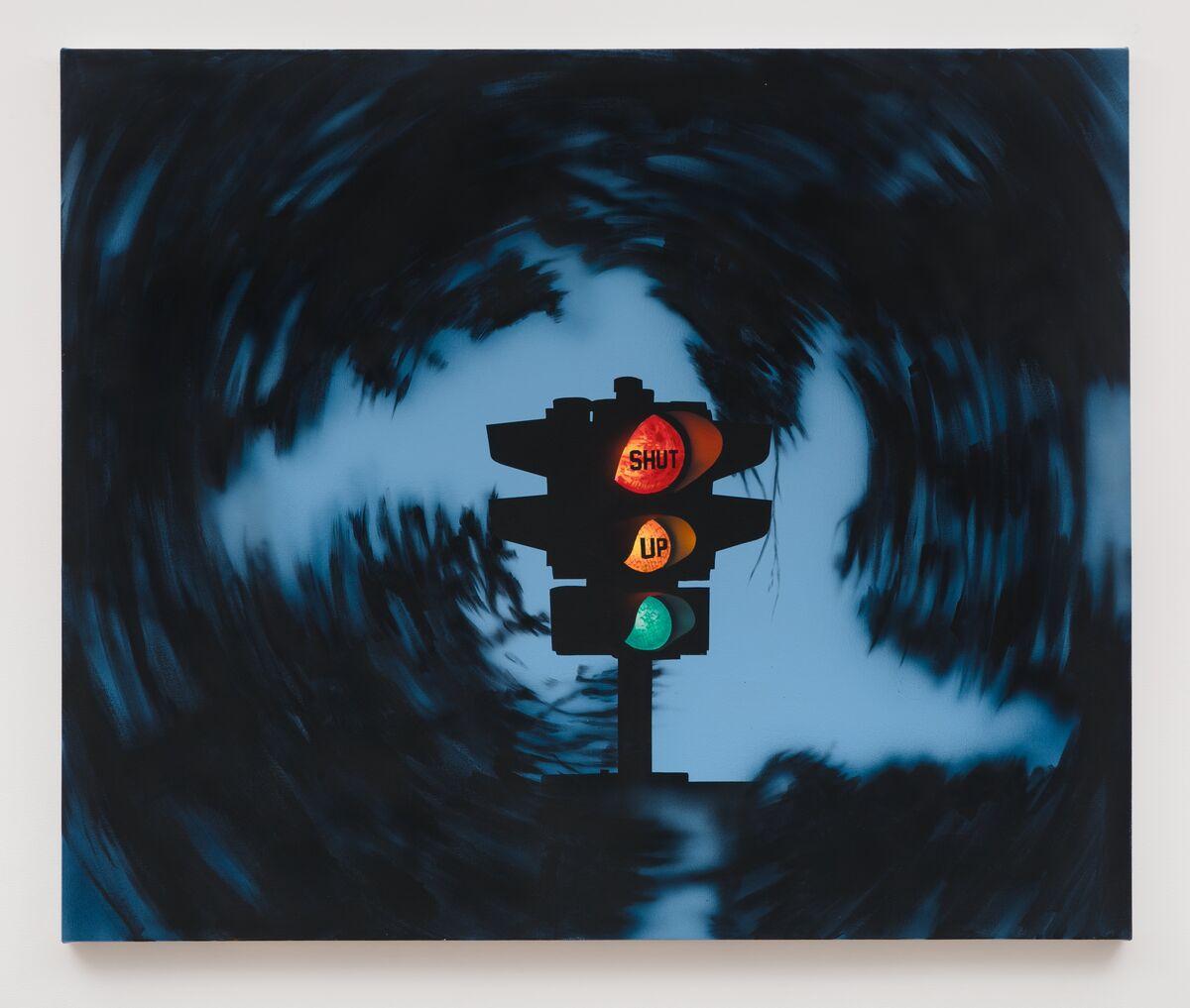 Jamian Juliano-Villain, Shut Up, the Painting, 2018. Photo by Charles Benton. Courtesy of the artist and JTT, New York.