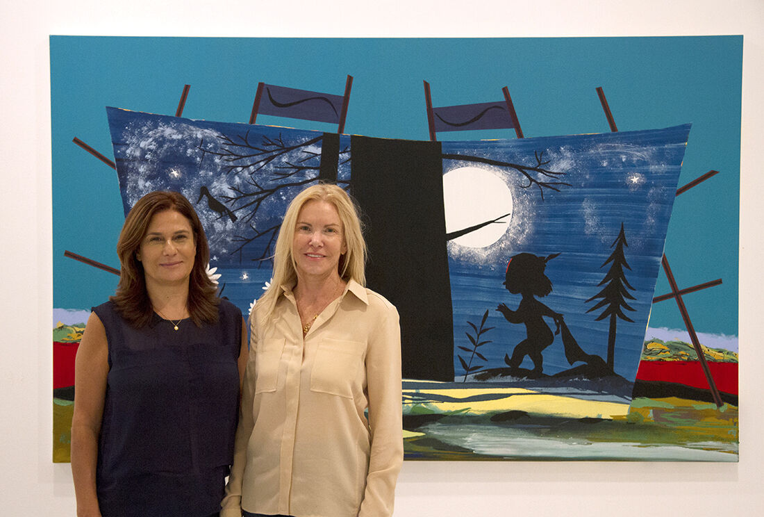 Nechami Gottlib and Adina Alshech, owners and directors of Noga Gallery of Contemporary Art. Photo by Daniel Lewitt, courtesy of Noga Gallery of Contemporary Art.