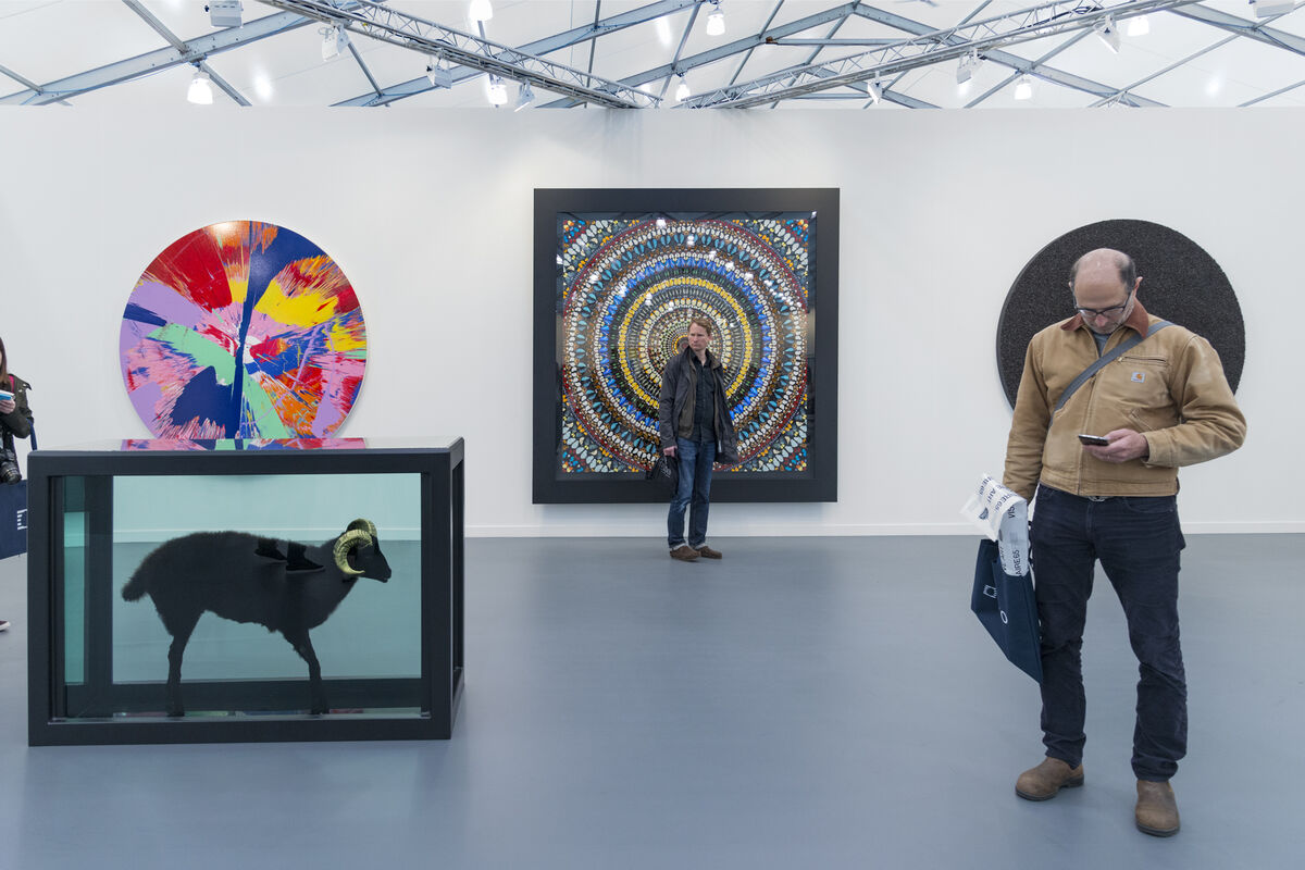 Installation view of Gagosian Gallery's booth at Frieze New York, 2016. Photo by Adam Reich for Artsy.