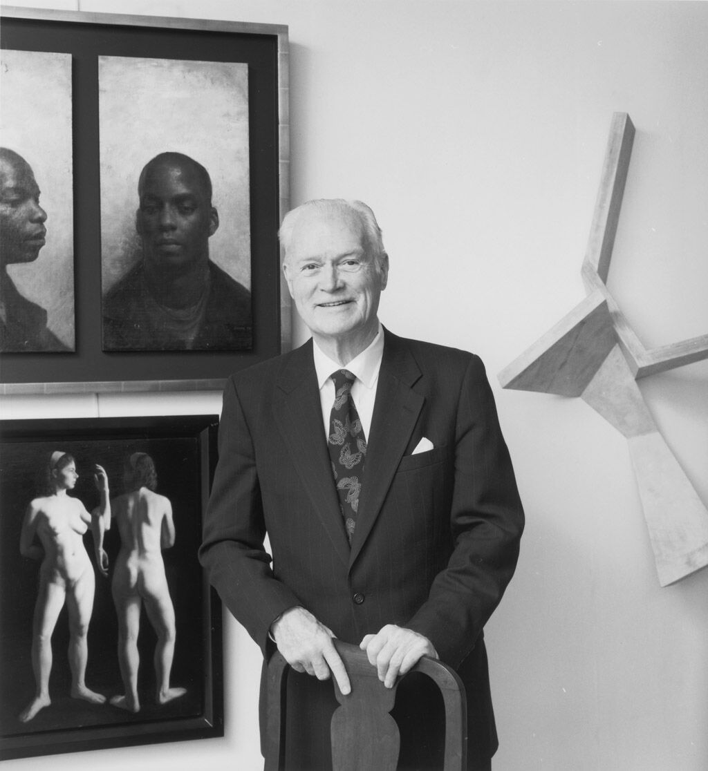 Richard Brown Baker in his New York apartment. Photo © Jerry Thompson. Courtesy of the RISD Museum.
