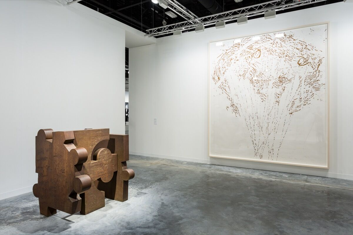 Installation view of Hauser & Wirth's booth at Art Basel in Miami Beach, 2017. Photo by Alain Almiñana for Artsy.