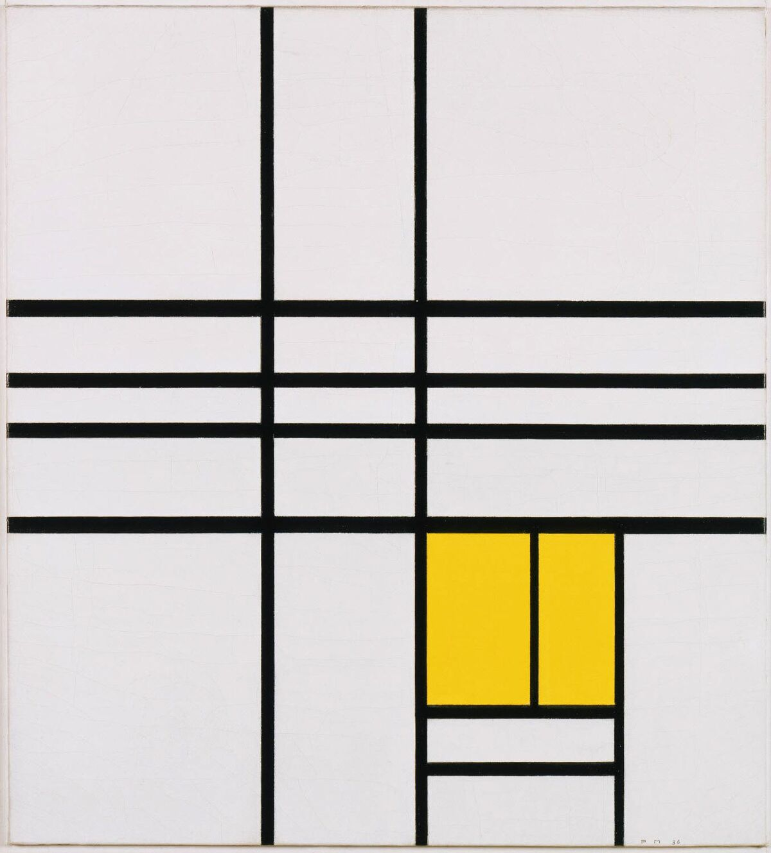 Piet Mondrian, Composition, 1936. Courtesy of the Philadelphia Museum of Art.