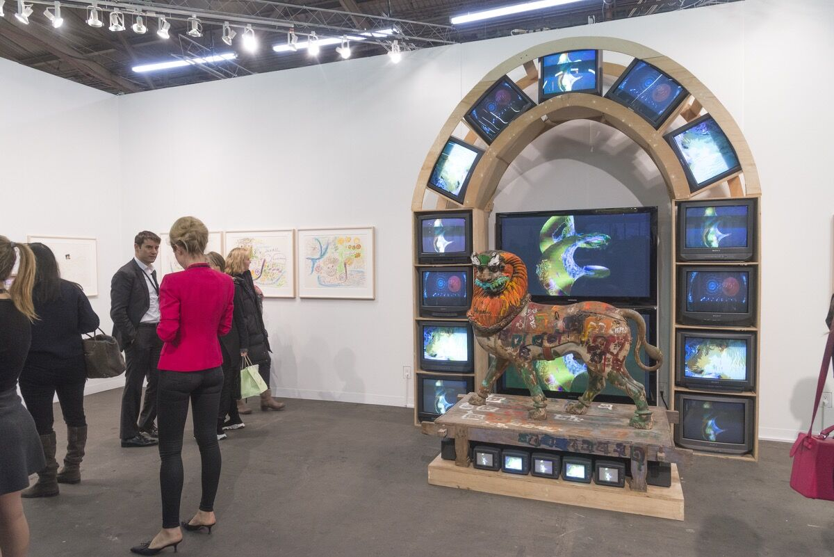Installation view of Gagosian's booth at The Armory Show, 2018. Photo by Adam Reich for Artsy.