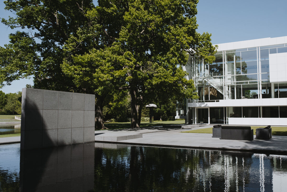 View of The Rachofsky House, the Dallas, Texas home and contemporary art collection of Cindy and Howard Rachofsky. Photo by Valerie Chiang for Artsy.