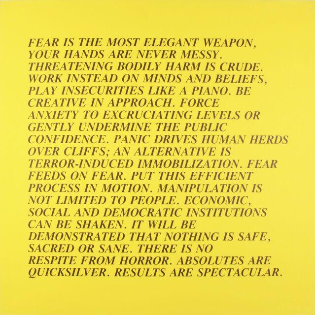 Jenny Holzer, Inflammatory Essays, 1979-82. © Jenny Holzer. Courtesy of the artist and Benjamin Ogilvy Projects.