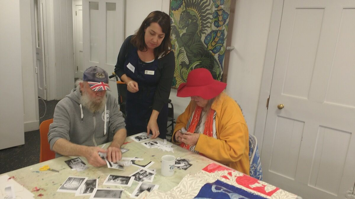 Photo of the Printmaking Program at William Morris Gallery, courtesy ofArts 4 Dementia.