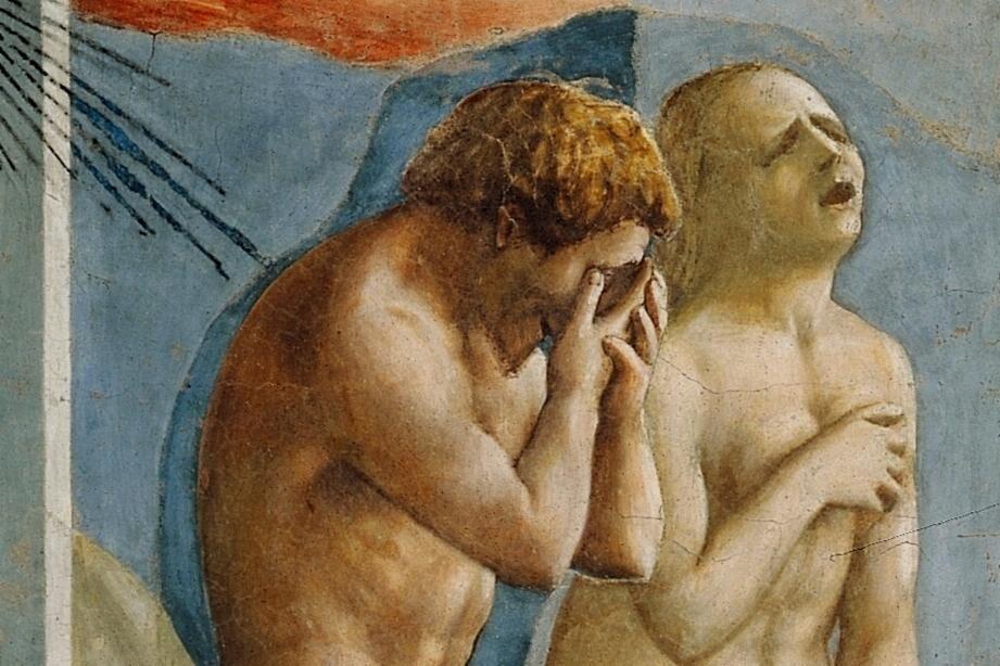 Detail of Masaccio, Expulsion from the Garden of Eden, ca. 1427. Image via Wikimedia Commons.