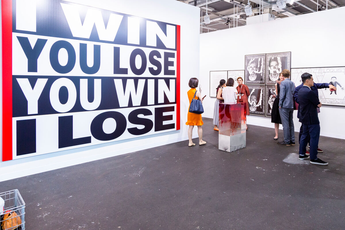 Installation view of Sprüth Magers' booth at Art Basel in Basel, 2018. Courtesy of Art Basel.