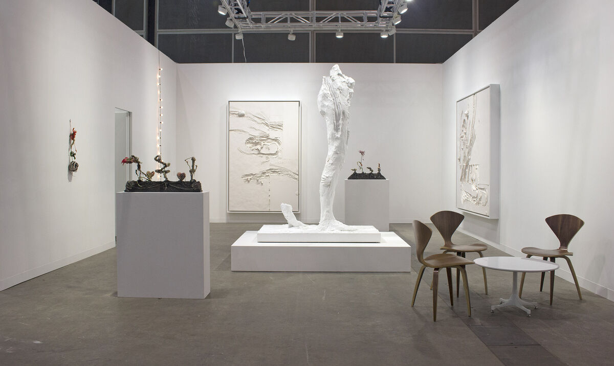 Installation view of Andrea Rosen's booth at Art Basel in Hong Kong, 2016. Courtesy of the gallery.