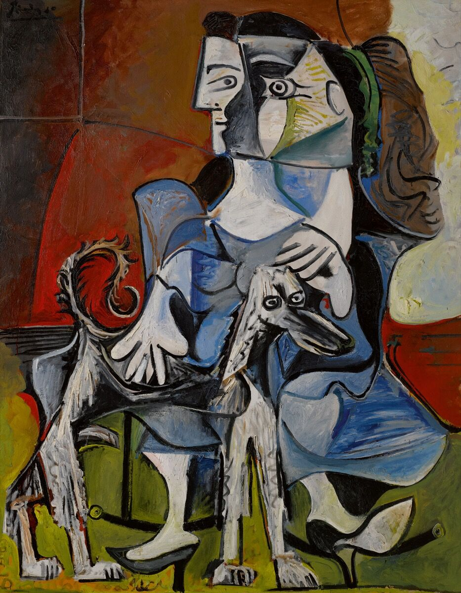 Pablo Picasso, Femme au chien, 1962. Courtesy of Sotheby's.